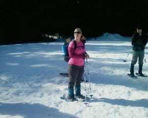 Snowshoeing in the beautiful Cascade mountains